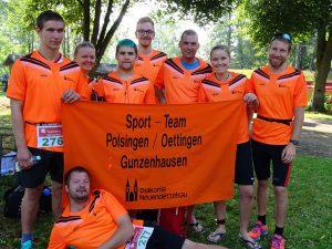 Inklusions-Staffeln beim Oettinger Triathlon